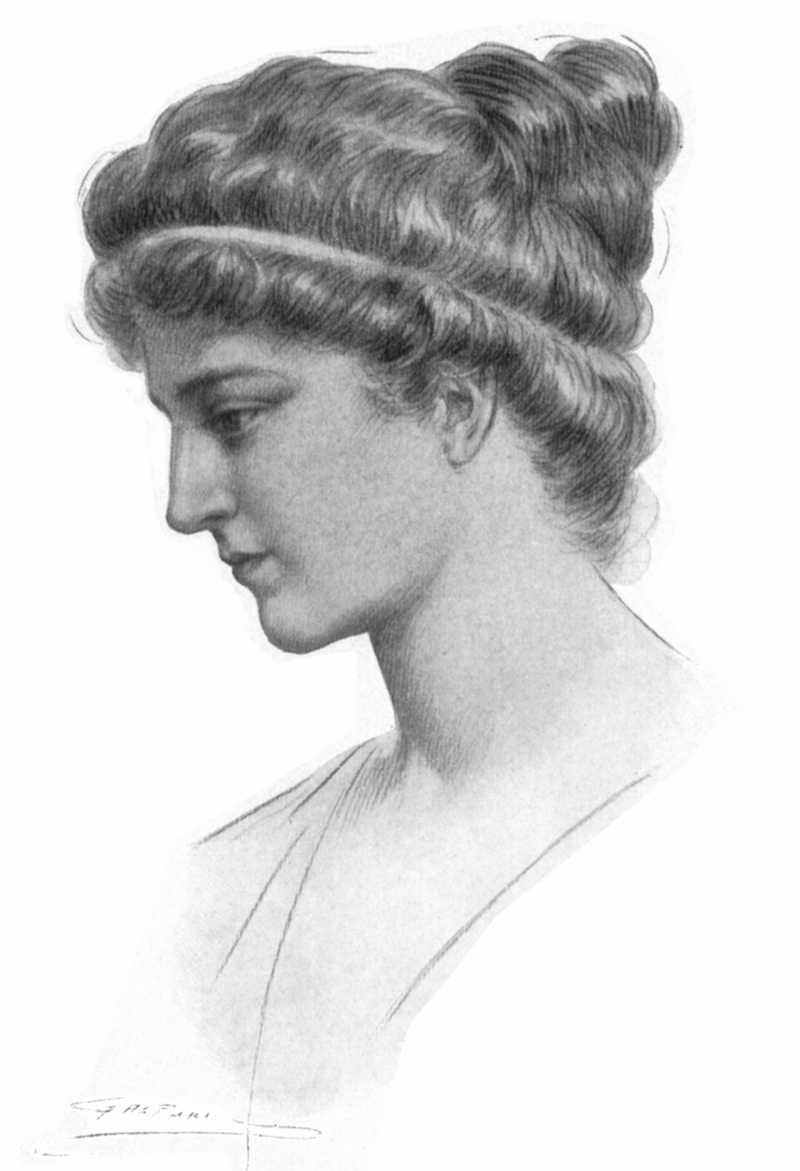 "Drawn by Jules Maurice Gaspard (1862–1919) - Elbert Hubbard, ""Hypatia"", in Little Journeys to the Homes of Great Teachers, v.23 #4, East Aurora, New York : The Roycrofters, 1908 (375 p. 2 v. ports. 21 cm)"